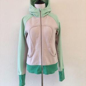 Lululemon Scuba Hoodie Color Block Jacket Size 8